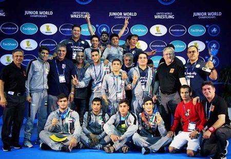 تیم ایران قهرمان کشتی فرنگی جوانان جهان در فنلاند شد