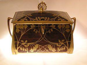 Very Rare Antique Erhard Shne Art Nouveau Jewellery Box Circa