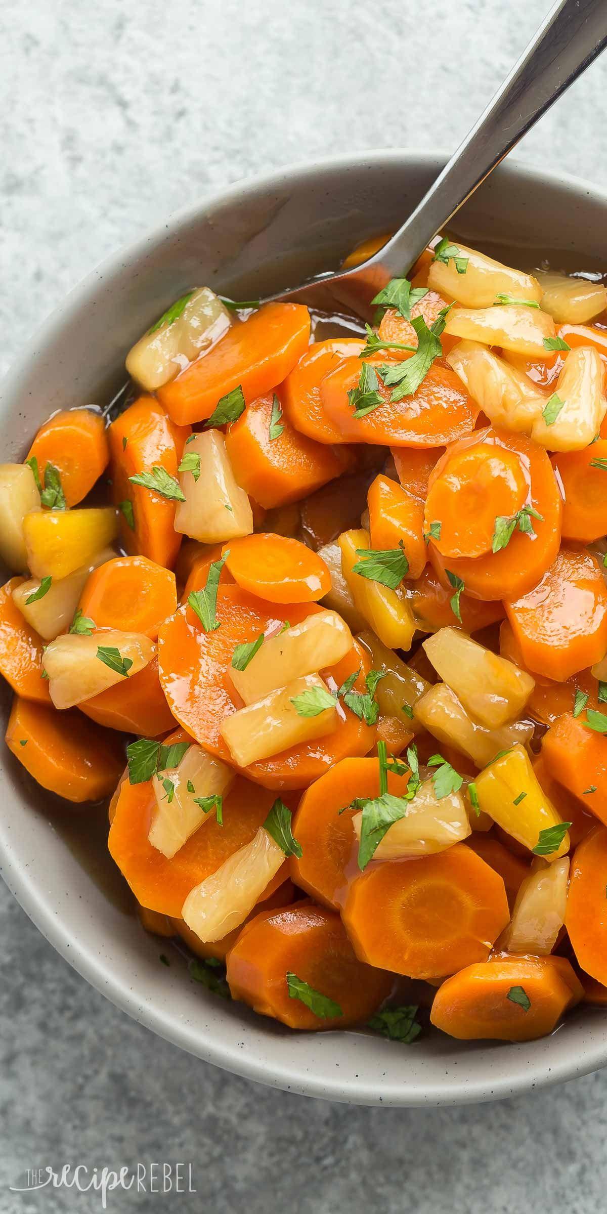 Slow Cooker Pineapple Glazed Carrots | Rezept