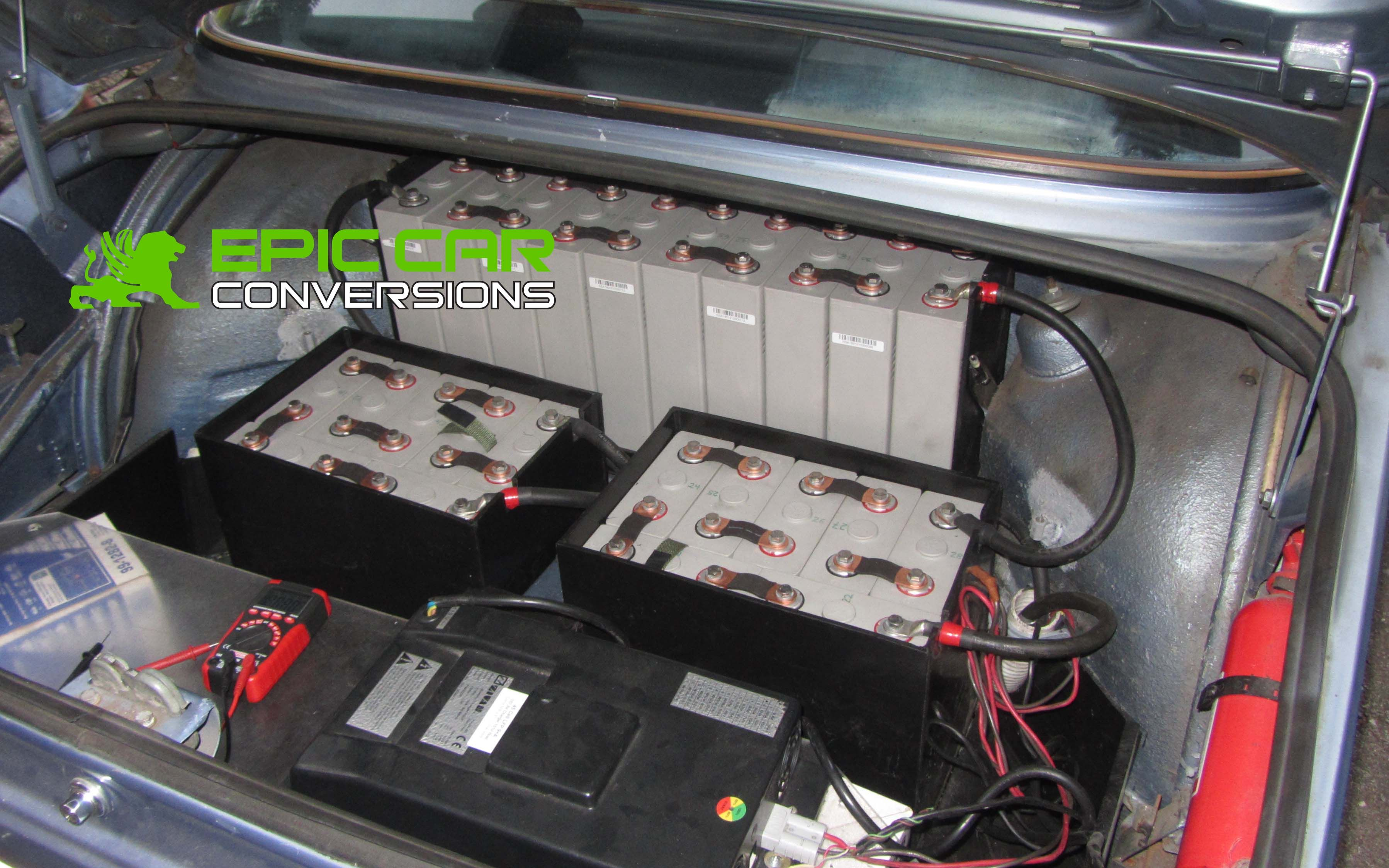 Bmw 2002 Electric Car Conversion Ev Electric Vehicle Batteries Epiccarconversions Com Electric Car Conversion Diy Electric Car Electric Cars