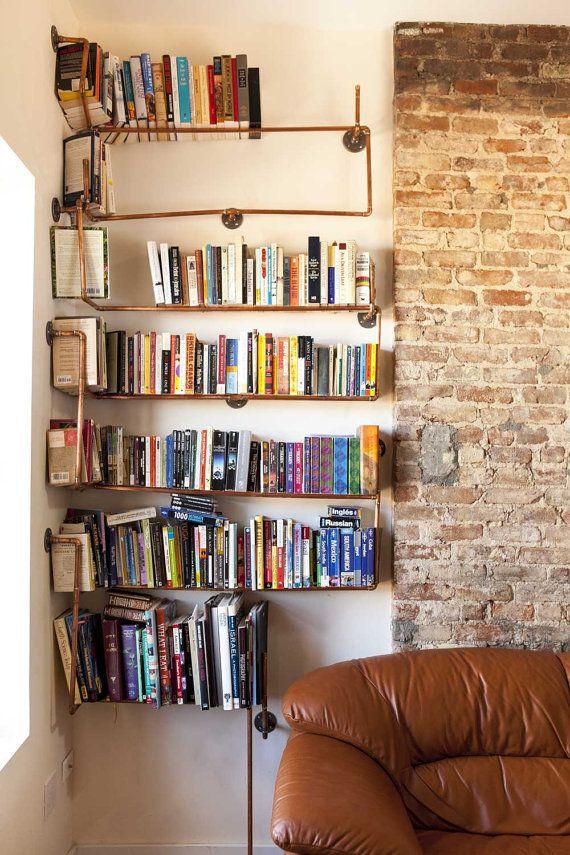 MadeToOrder Copper Pipe Shelving Pipe Shelving Shelving And Pipes - Pipe bookshelves