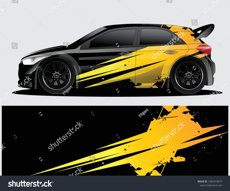 Vetor Stock De Rally Car Decal Graphic Wrap Vector Livre De Direitos 1492419077 Plotagem De Carros Carro De Rali Decalques Para Carros [ 1242 x 1500 Pixel ]