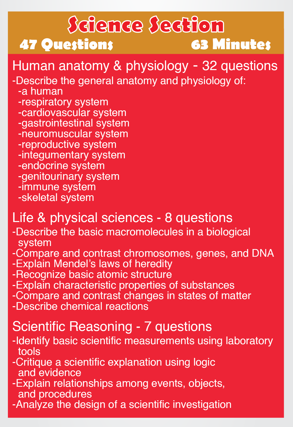 TEAS Science - Content areas such as the following: Human Anatomy ...