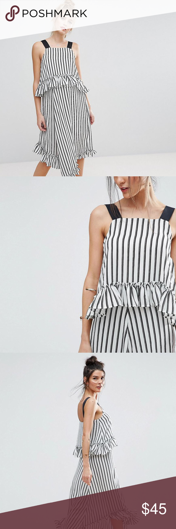 Asos maxi dress with ruffle detail size in my posh picks