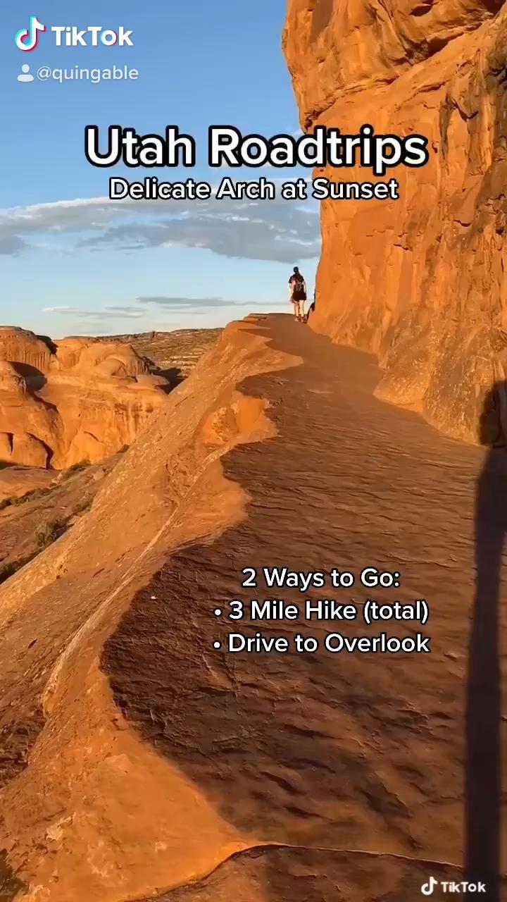 BEST Utah Roadtrip Spots! Delicate Arch at Sunset