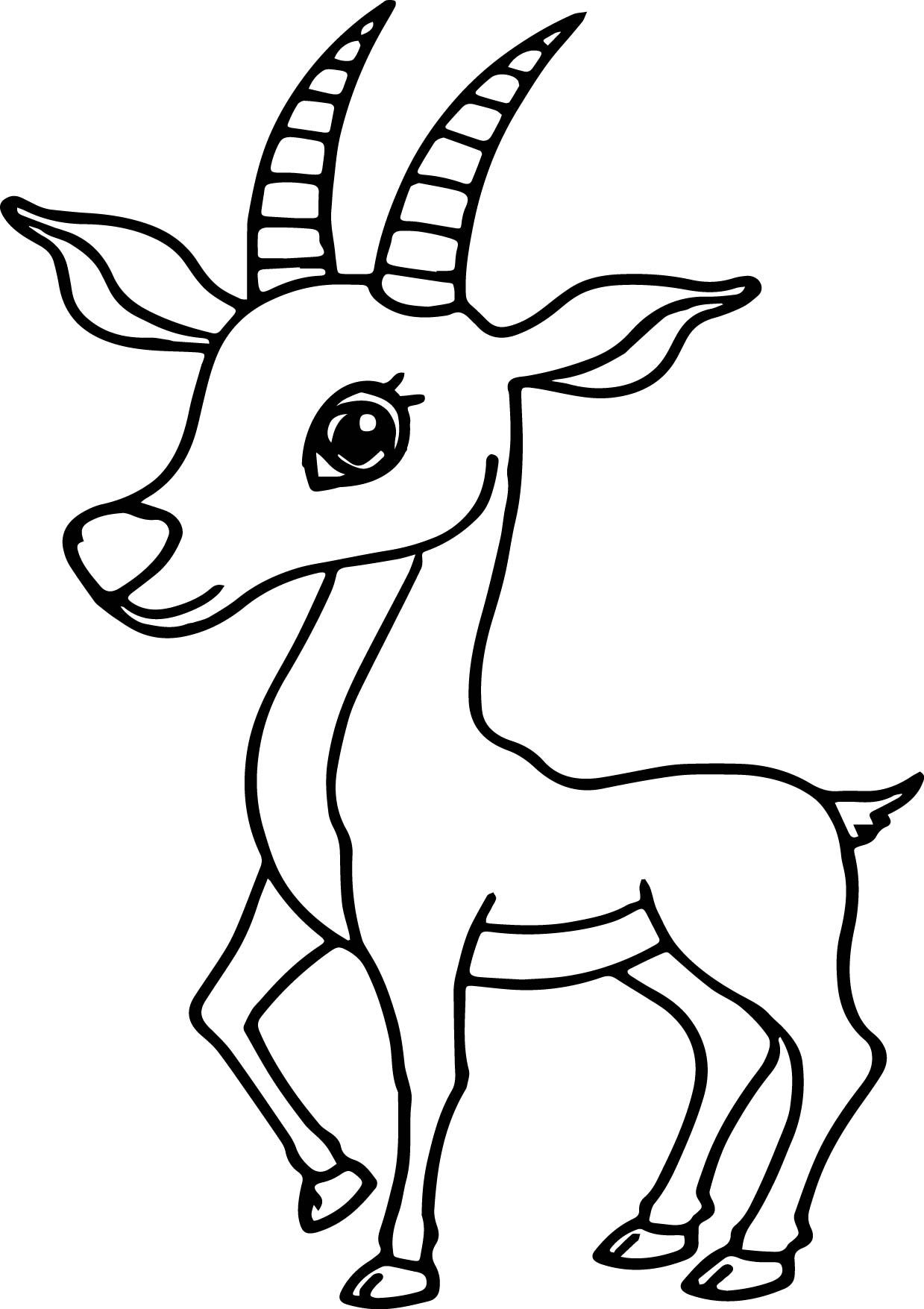 Awesome Antelope Coloring Pages Deer Coloring Pages Coloring