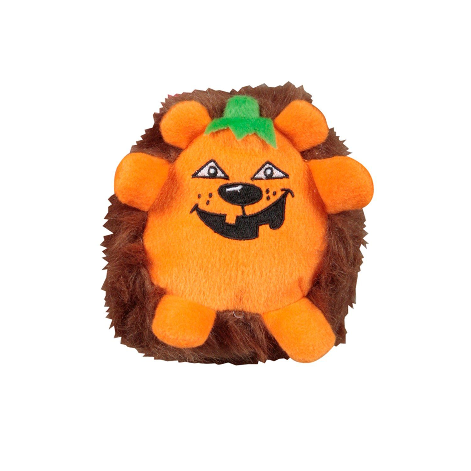 Outward Hound Kyjen 2565 Halloween Pumpkin Plush Toy Squeak Dog