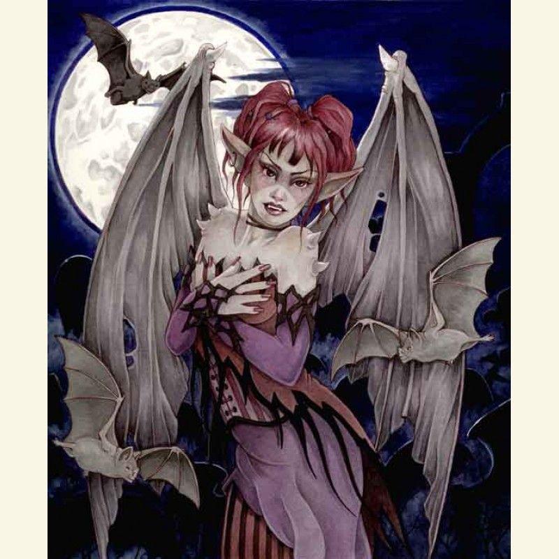 Large Print Nightmare Fae - Linda Ravenscroft Fairy Art Faeries