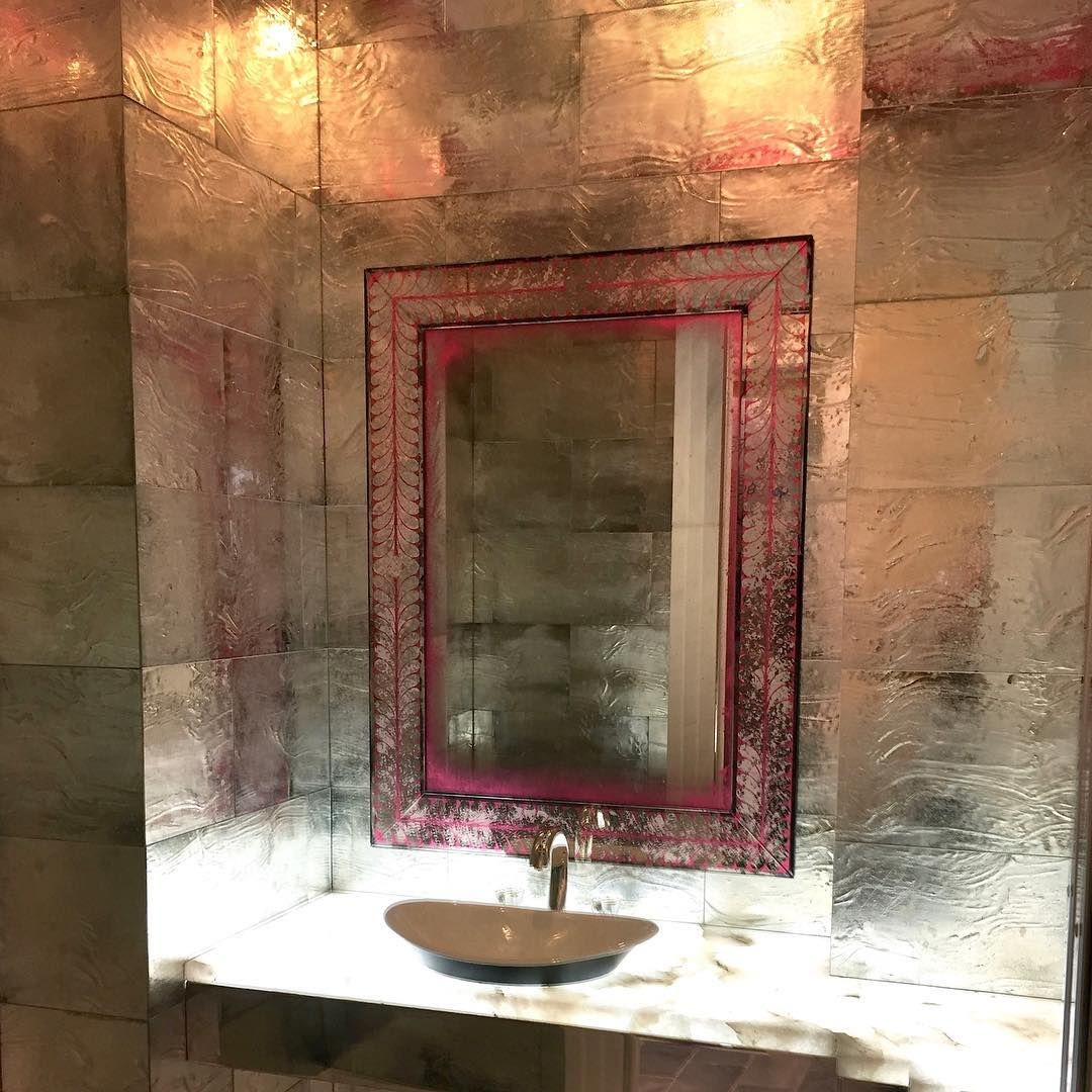 "Simes Studios on Instagram: ""Jewel-Like Powder Room with our"