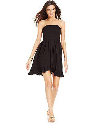 4267743c40 Dotti Strapless Smocked Cover-Up Dress