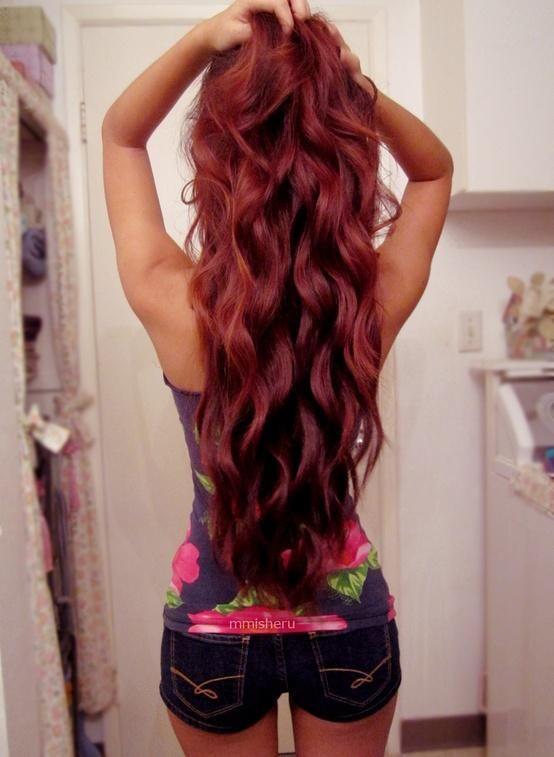 red pretty hair