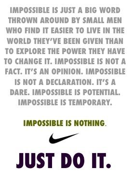 Just Do It Quotes Brilliant Impossible Is Nothing Just Do It  Just Do It  Pinterest . Inspiration Design
