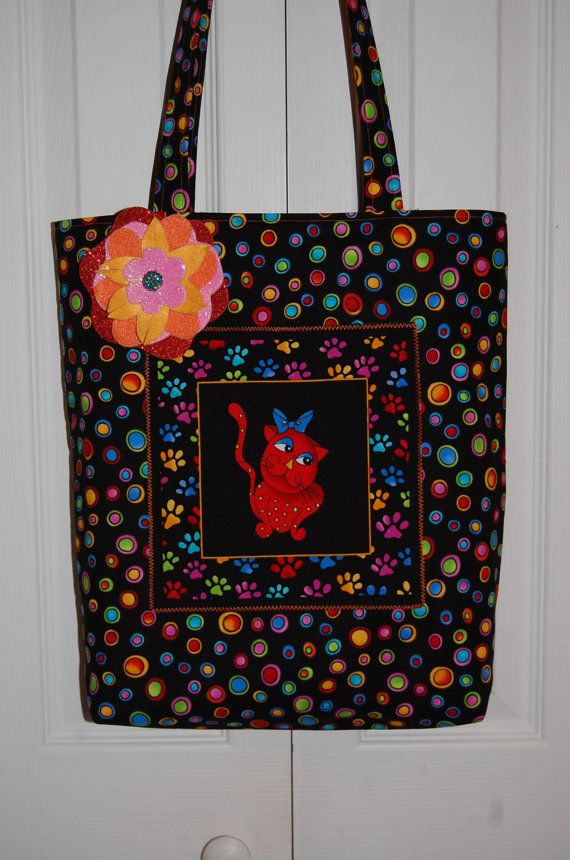 Cool Cats Amp Dopey Dots Tote Bag Loralie Designs By