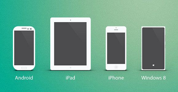 simple psd mockups of multiple devices android iphone ipad windows they can be used as icons or mockups free psd designed by armas b similar psd mockups - Ipad And Iphone Mockup