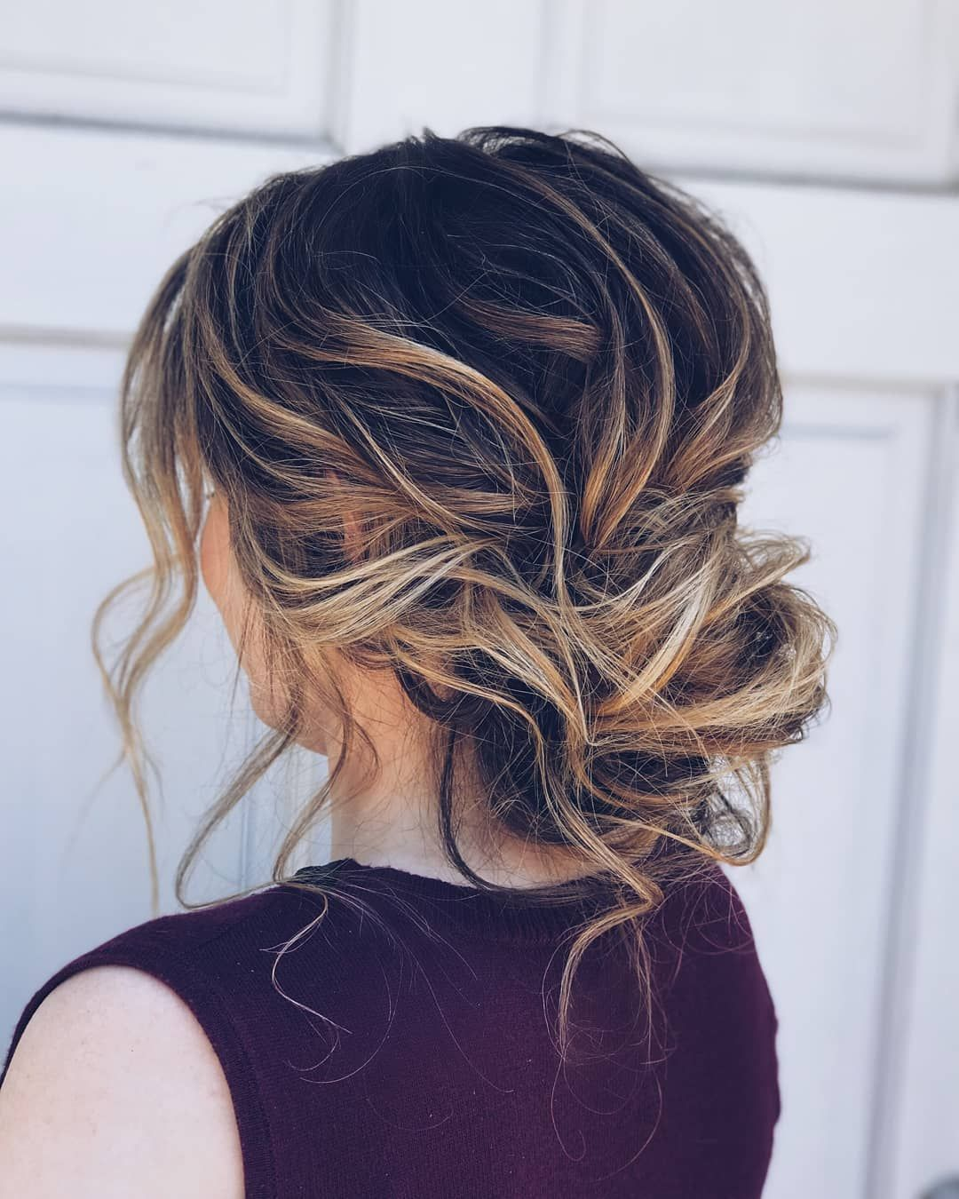 Romantic Loose Drapey Textured Effortless Updo Wedding Hairstyles Updo Hairstyles Messy Updos Weddingha Hair Styles Messy Wedding Hair Loose Wedding Hair