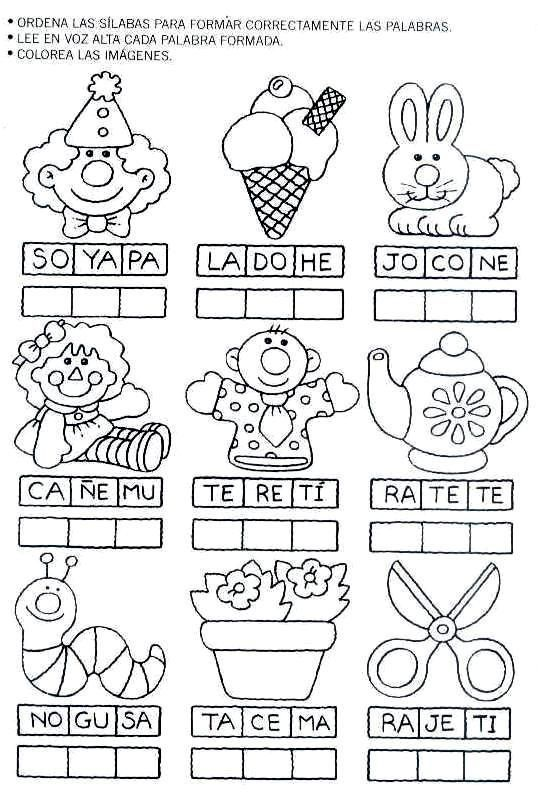 ejercicios de preescolar letras - Buscar con Google ...