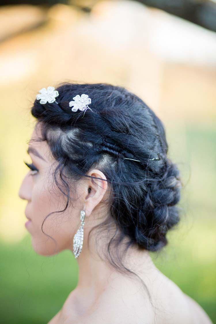 Rustic barn styled shoot at hodgeus farm wedding hairstyles