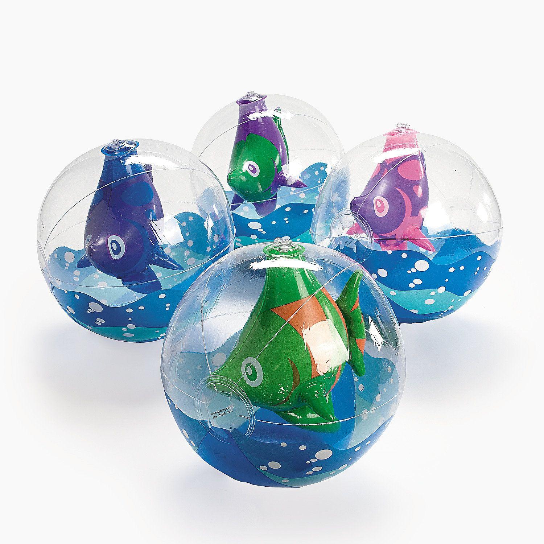 "Inflatable 11"" Tropical Fish Medium Beach Balls"
