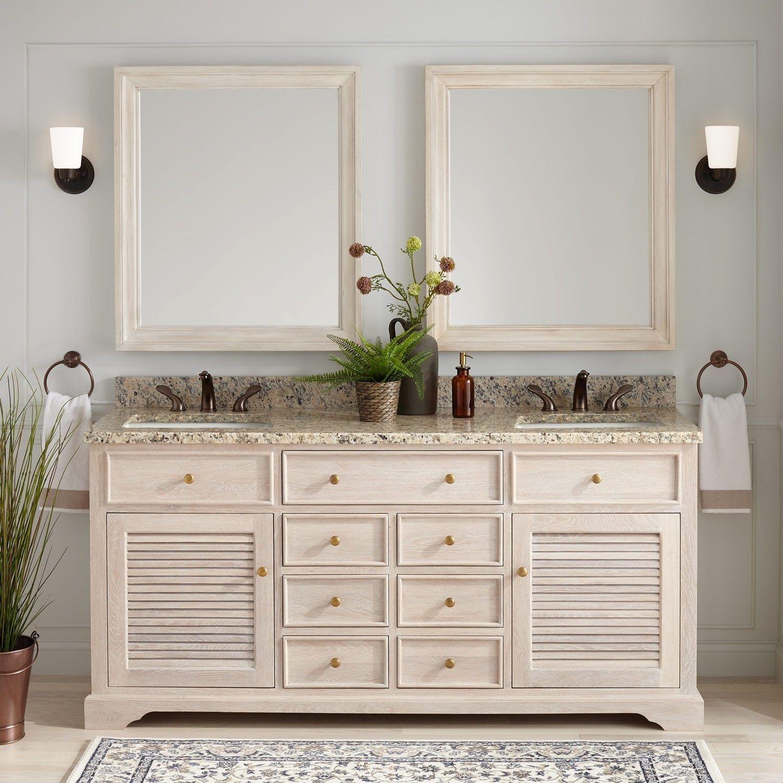 72 Westerfield Double Vanity For Rectangular Undermount Sinks Whitewash Bathroom Vanities Bathroom Double Vanity Bathroom Bathroom Vanity Double Vanity