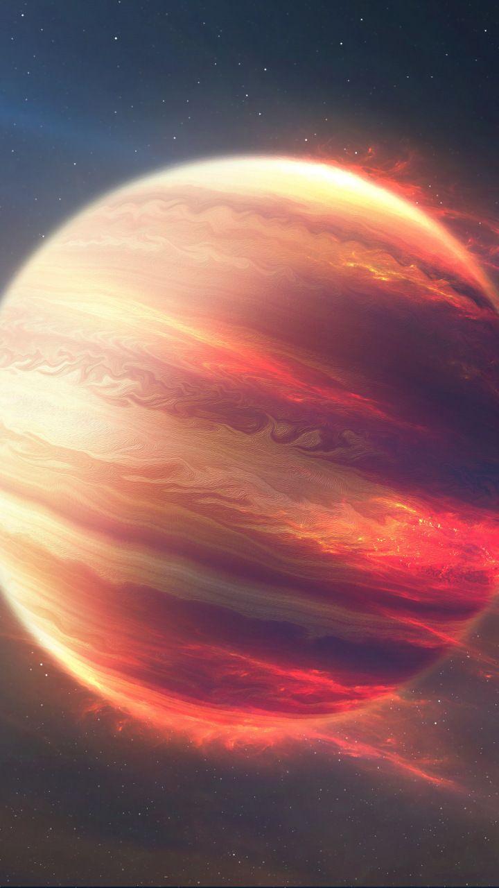 jupiter, planet, space, digital art, 720x1280 wallpaper | infinito