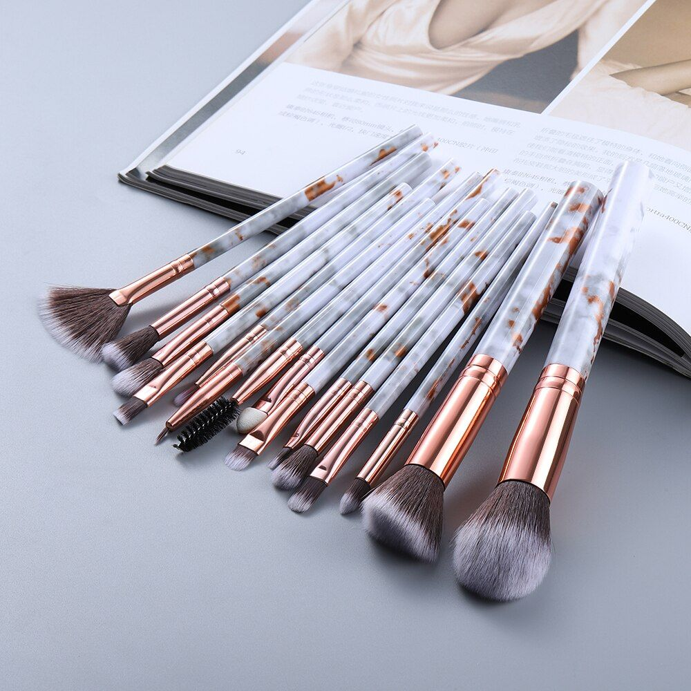 FLD5/15Teile Make-Up Pinsel Werkzeug Set Kosmetische Pulver Lidschatten Foundation Blush Blending Schönheit Make-Up Pinsel Maquiagem – 15pcs-gold