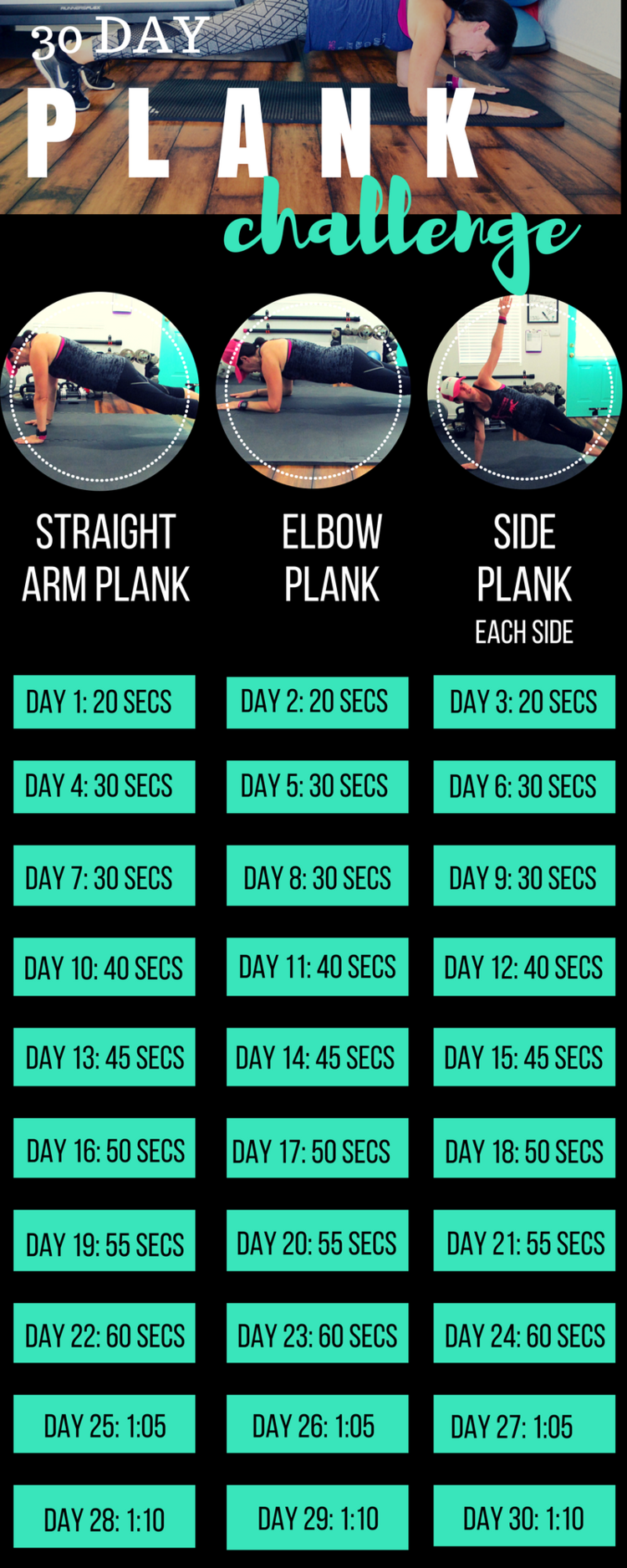 #challenge #genders #fitness #plank #day #lea30 DAY PLANK CHALLENGE 30 DAY PLANK CHALLENGE — Lea Gen...