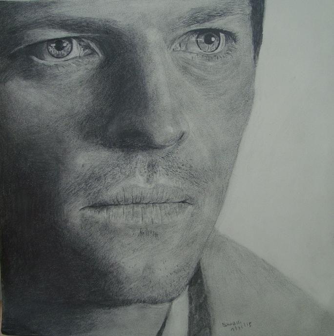 A Castiel Closeup, pencil sketch #SPNFamily @WinchesterBros @FangasmSPN @SuperWiki