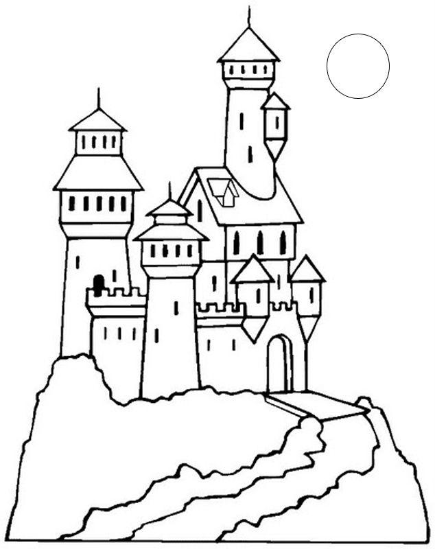 Divertidos Dibujos De Castillos Para Imprimir Y Colorear Aprende Castillos Dibujos Castillo Para Colorear Páginas Para Colorear Para Niños