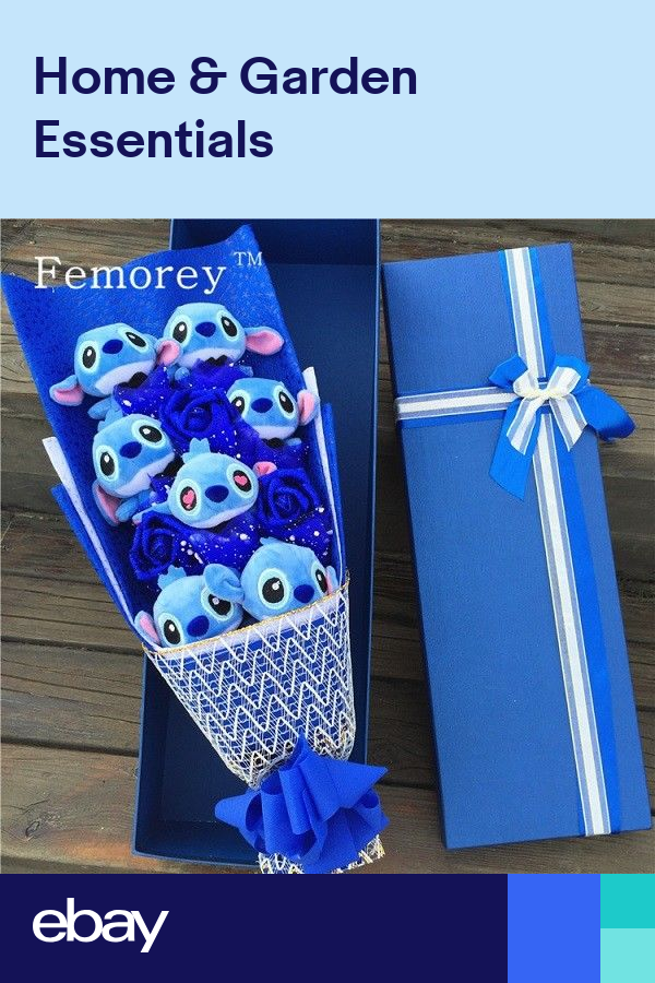 STITCH BOUQUET Artificial Lovely Cartoon Plush Toys Stitch Festivals BEST GIFT