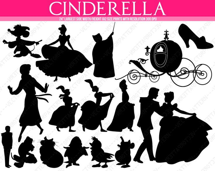 1000 ideas about Cinderella Silhouette on Pinterest  Disney