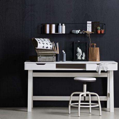 Woood Nikki Schreibtisch mit Schubladen, weiß | Schreibtische fürs ...
