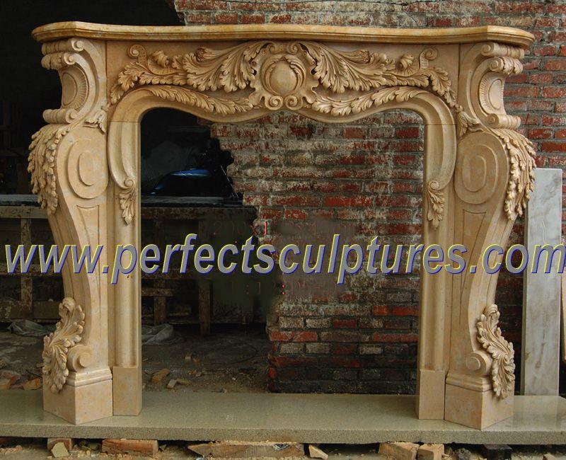 China Carved Stone Fireplace For Marble Sandstone Limestone Granite Mantel  (QY LF087)  . MarmorkamineInnenkamineKamin Aus SteinKamin ...