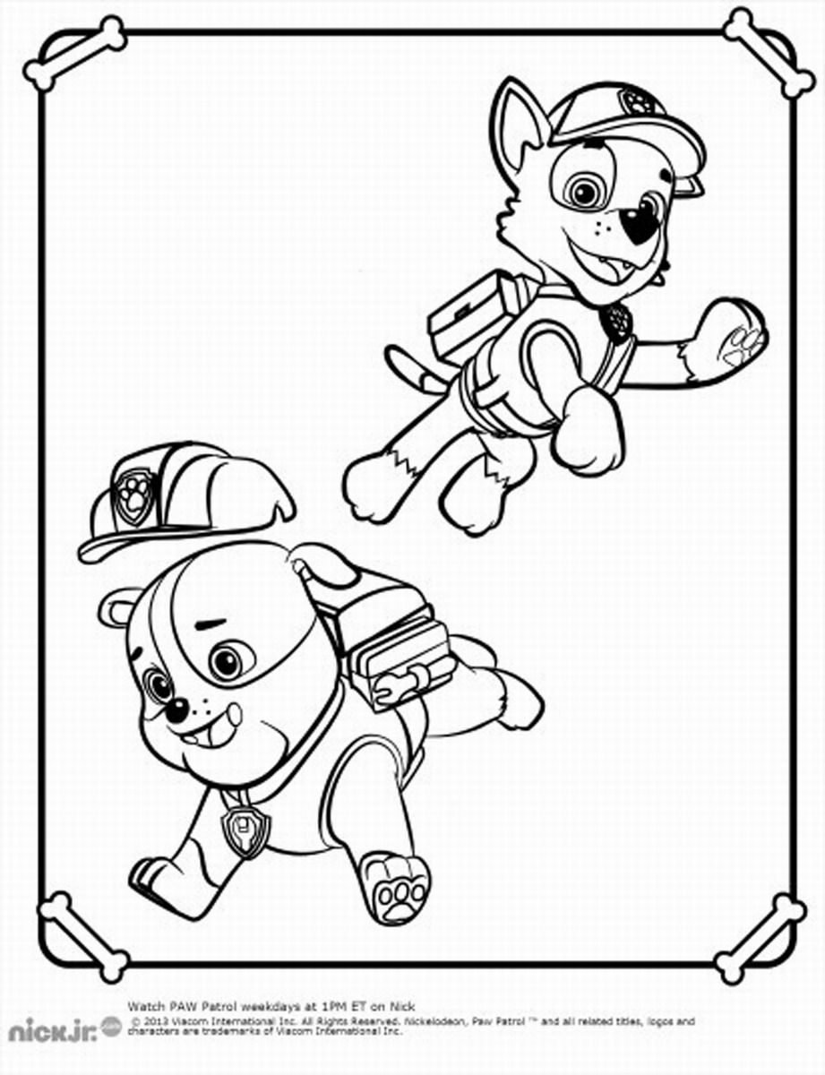 marshall with his firetruck coloring page paw patrol coloring