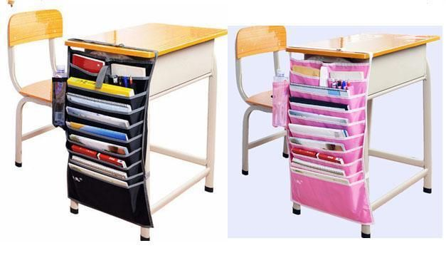 desk pocket organizer hanging holder table book storage bag box for rh pinterest com