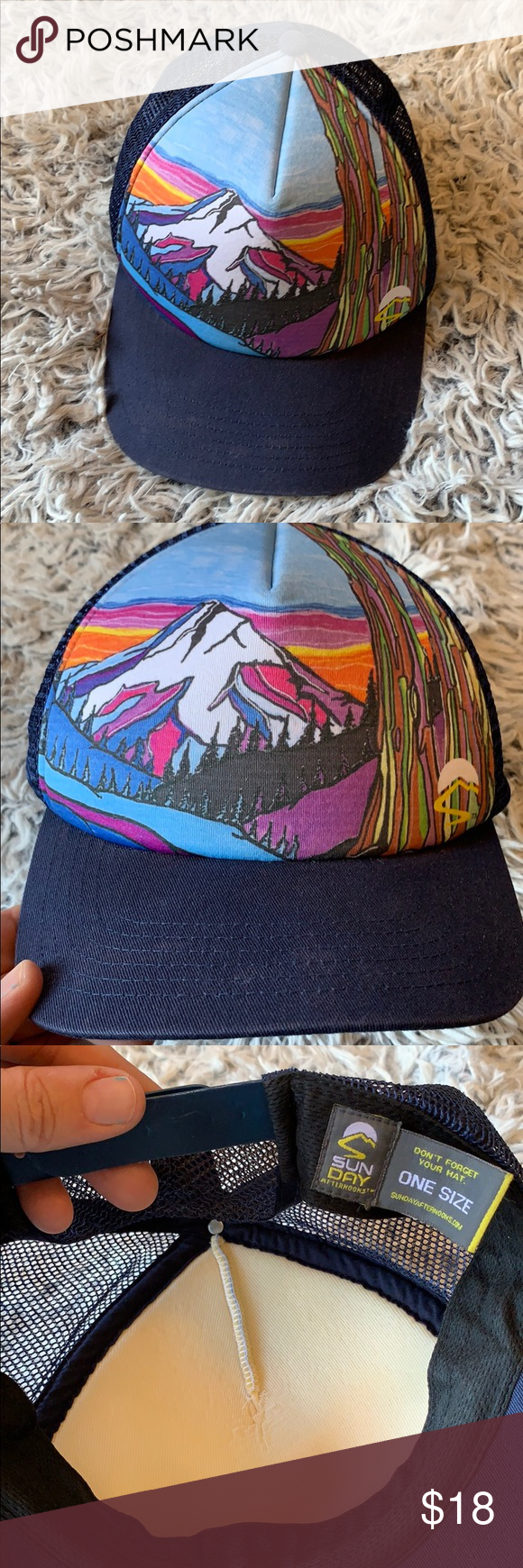 0e98051aab959 Mountain art hat SnapBack Cool graphic hat by Sunday Afternoons sunday  afternoons Accessories Hats