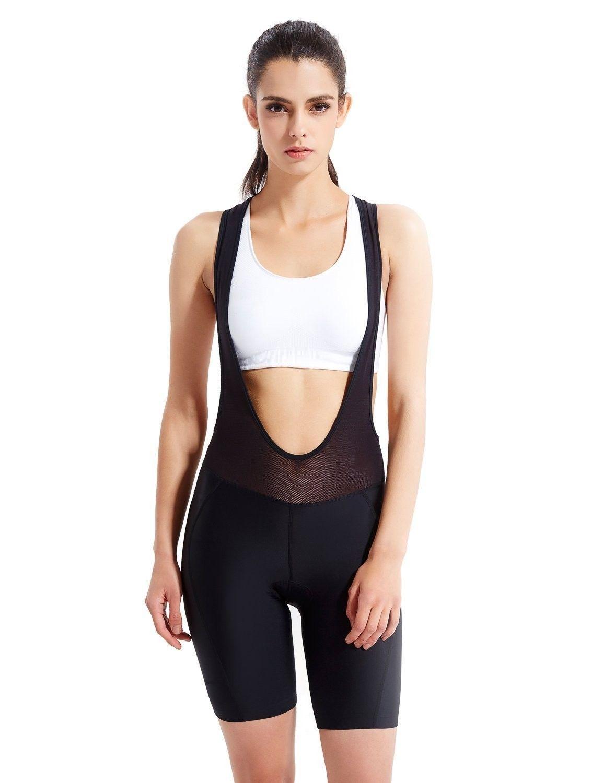 Women S 3d Padded Bike Bicycle Cycling Bib Shorts Back Pocket