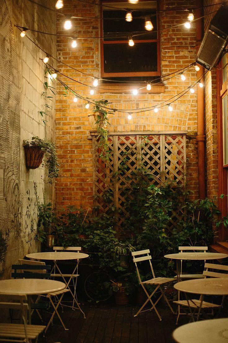 Cafe Bistro Lights Ooh La La Outdoor Restaurant Patio