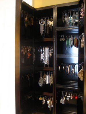 Jewelry Organizer   Hacked IKEA Atran Bathroom Cabinet Becomes A Jewelry  Storage Cabinet.