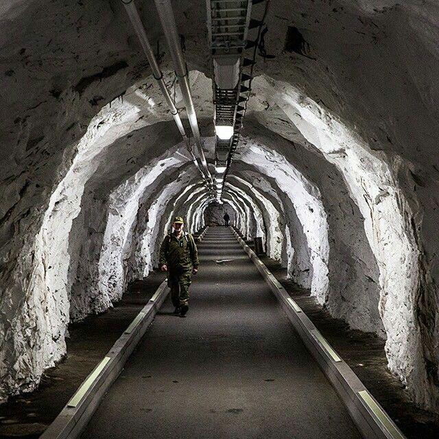 Norwegian bunker, built in the cold war