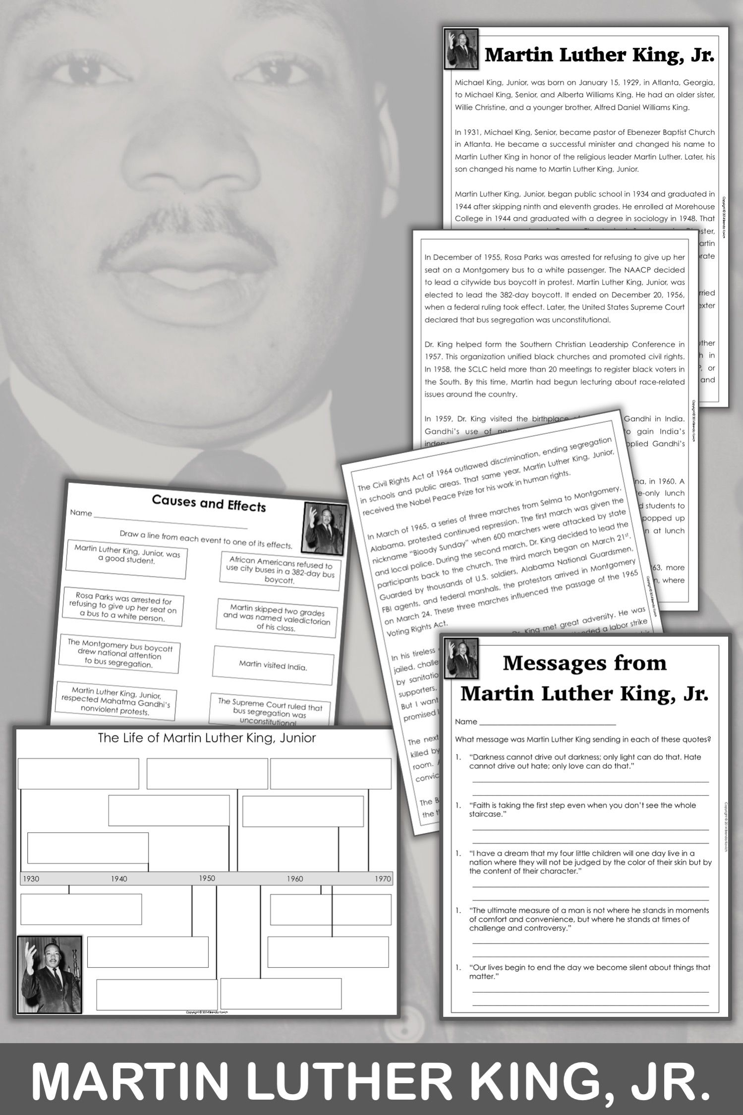Martin Luther King Jr Biography And Activities