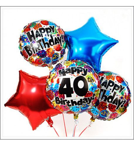 HAPPY 40TH BIRTHDAY COLORFUL In Keeping With The 40th Anniversary Receives Presenter Five Colorful Balloons Which Float Elegantly To Round