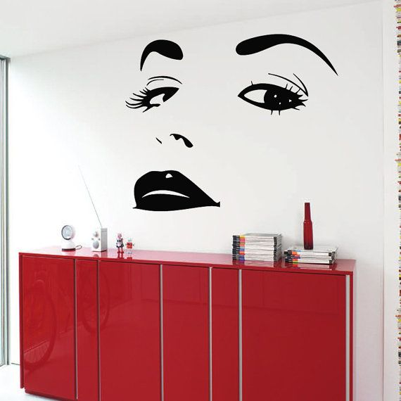 Girl Face Wall Decals Model Woman Decal Beauty Salon Wall Decor - How to make vinyl wall decals with silhouette cameo