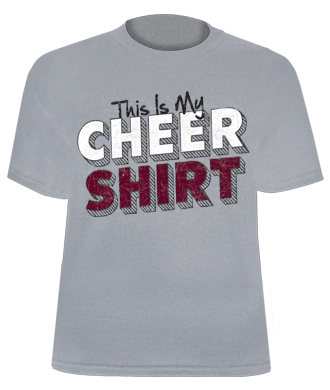 This Is My Cheer Shirt Printed Gray Jersey Tee for Cheerleaders ...