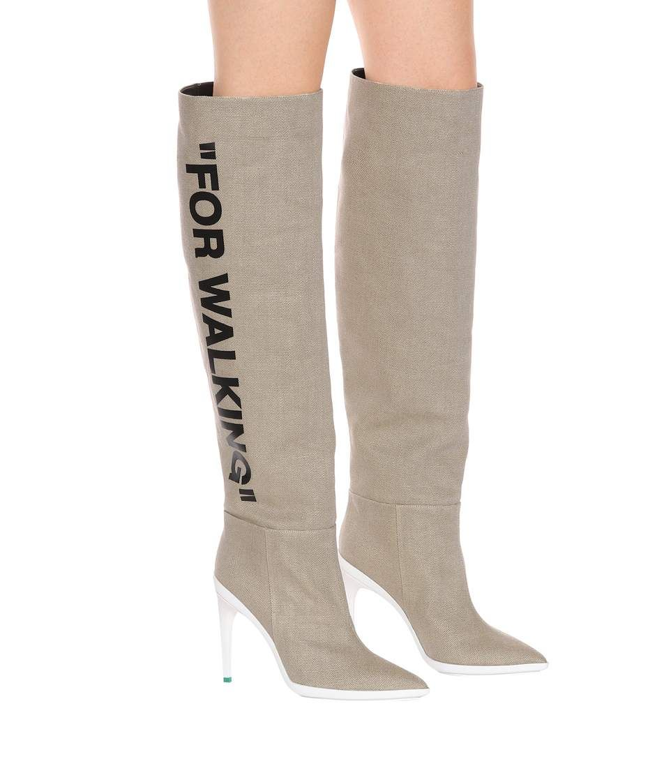 fd6c64b9963 Beige over-the-knee raffia boots