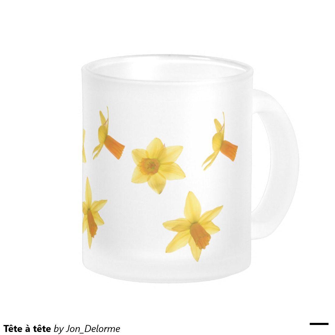 Tête à tête 10 oz frosted glass coffee mug