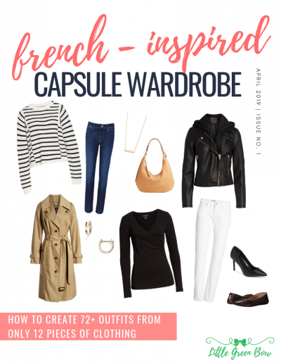 d4dc6e04909aff French Inspired Capsule Wardrobe  Over 72 Outfits - Little Green Bow