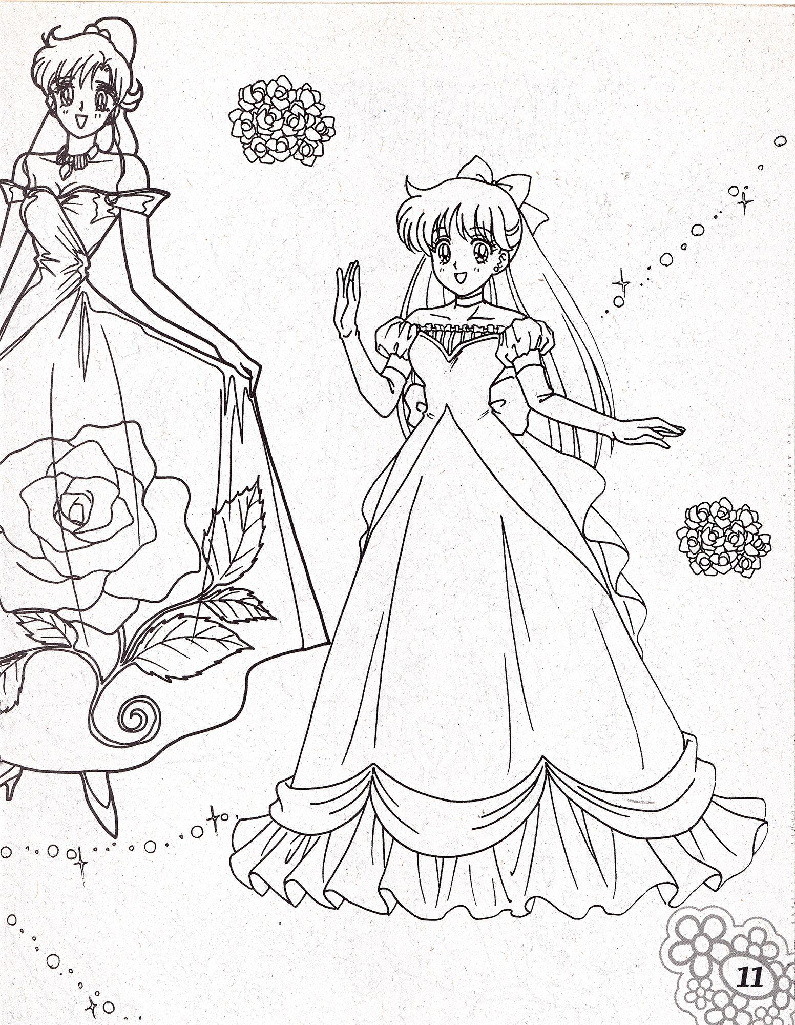 Пин от пользователя Марина на доске Sailor Moon расскраска