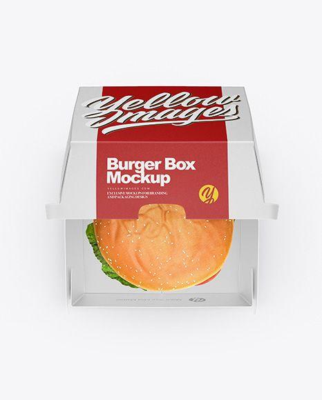 Download Free Mockup Free PSD Mockup Burger Box Mockup - Top View ...