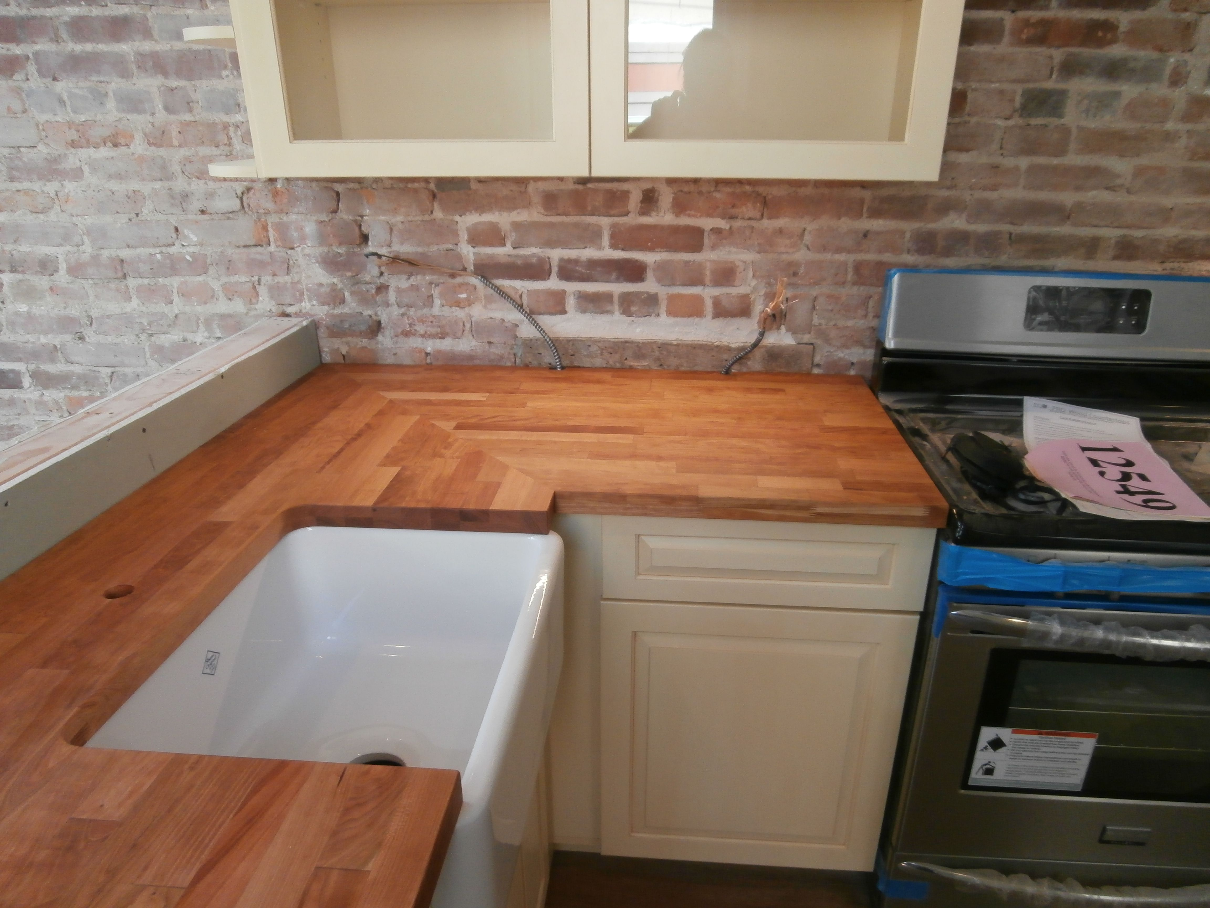 eco pro cherry countertop installed in a brooklyn home eco pro rh pinterest com au