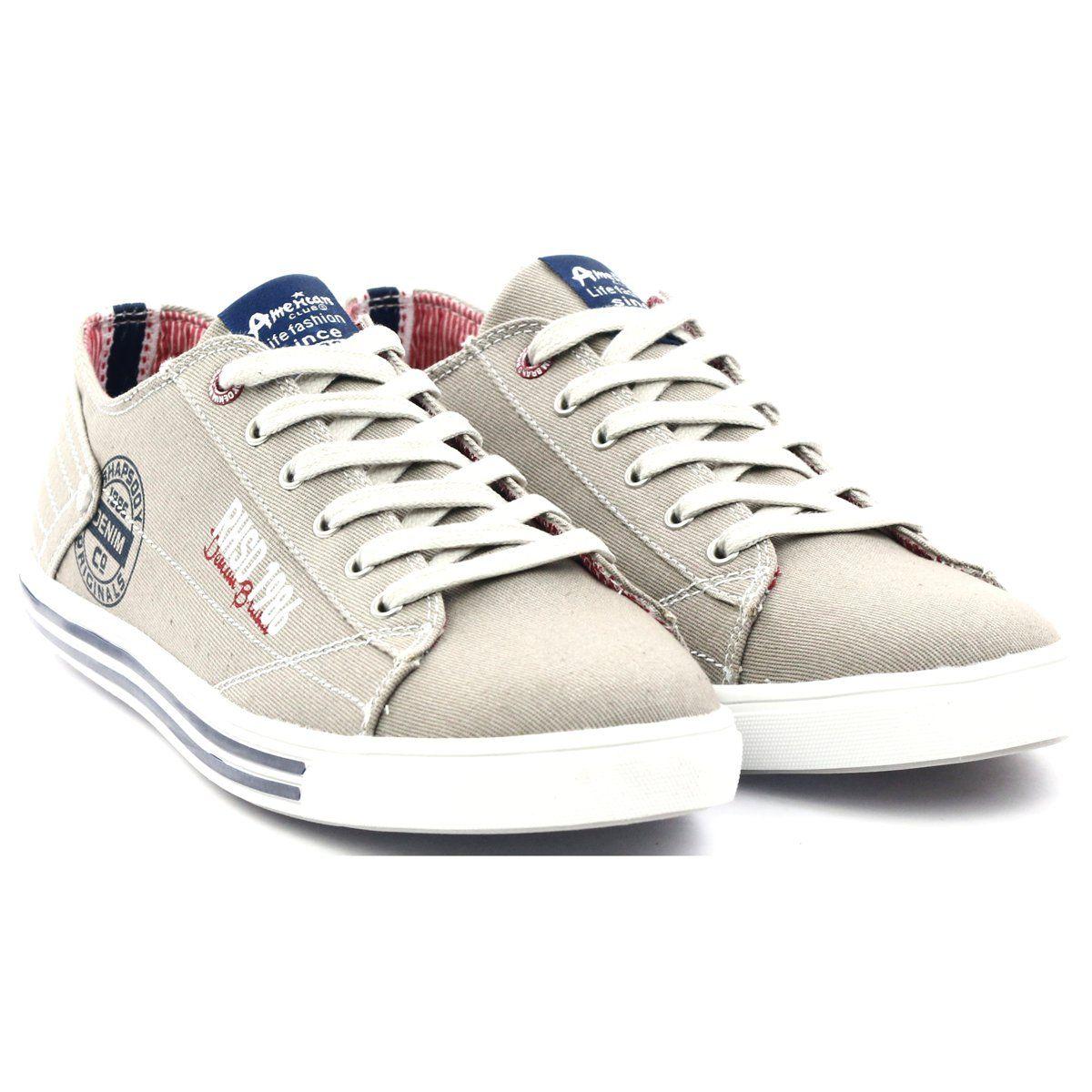 Tenisowki Meskie Americanclub Granatowe Brazowe Sportowe Tenisowki Bezowe American 604061 American Club Sneakers Superga Sneaker Shoes
